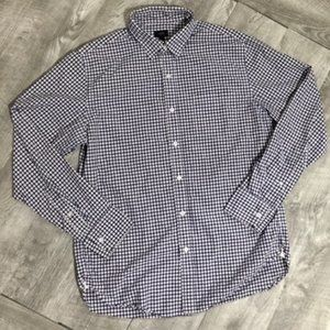 J. Crew Small Checks Mens Button Up Shirt (Medium)